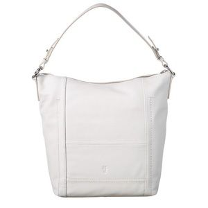 NWT FRYE Lena leather hobo shoulder bag white